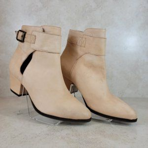 FREE PEOPLE  Belleville Ankle Bootie natural Sz 37